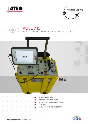PITOT STATIC TESTER - ADSE 745