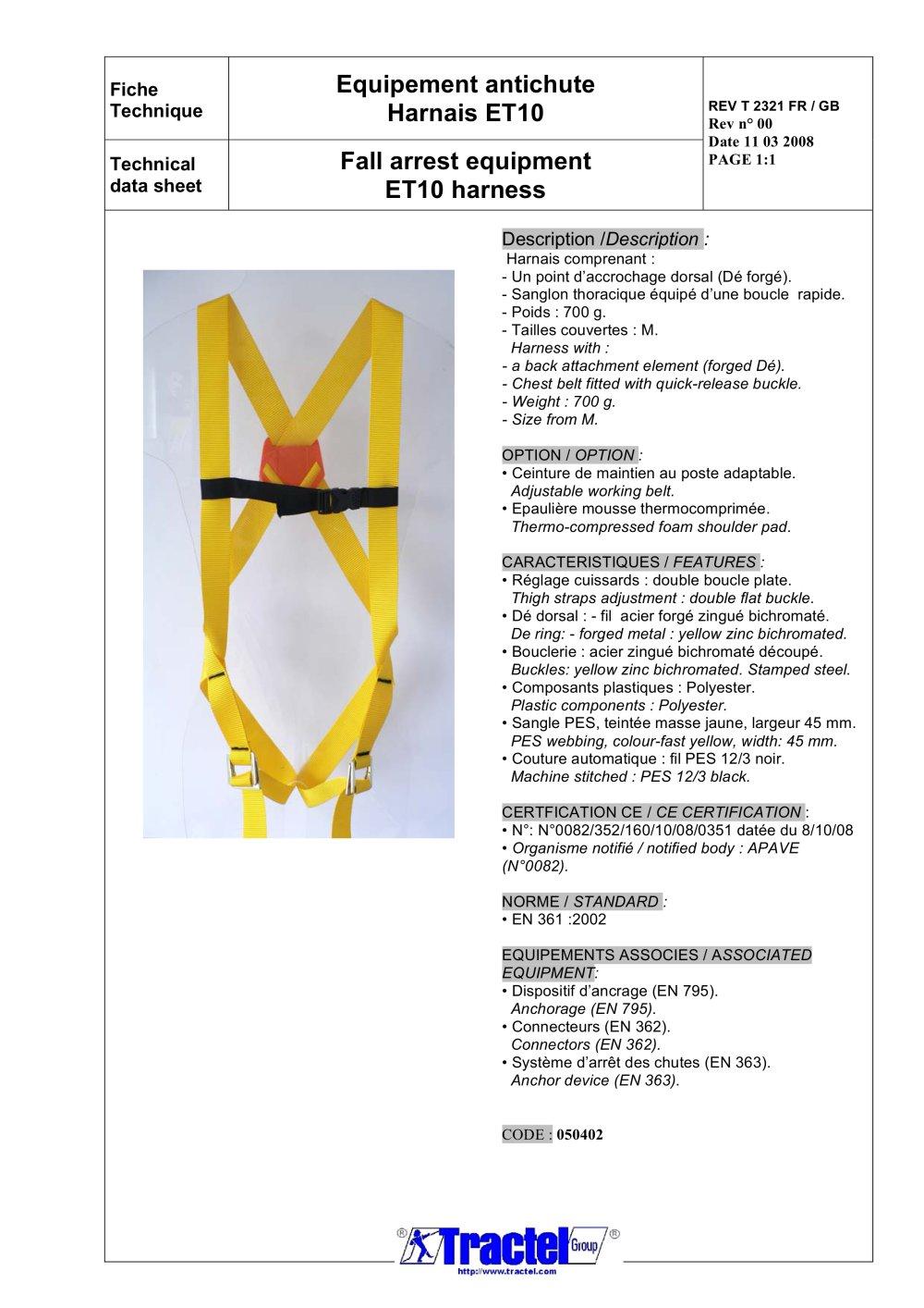 Et10 Tractel Pdf Catalogue Technical Documentation Brochure