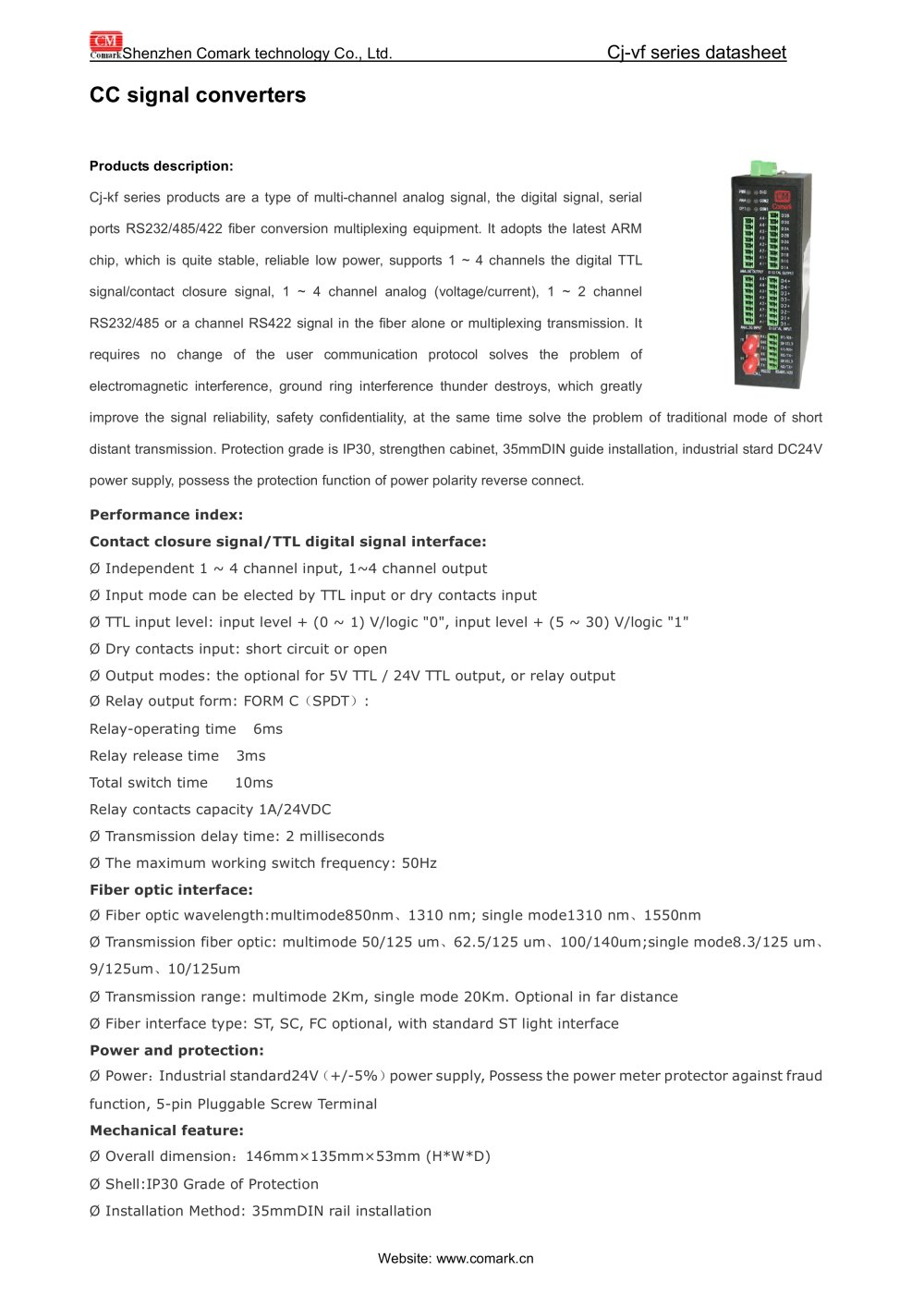 Comark Cc Signal Converters Ci Kf11 12 For Monitoring System Power Supply Monitor Ttl 1 2 Pages