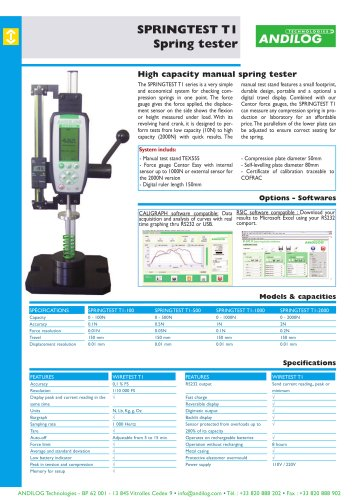 Manual spring tester Springtest T1