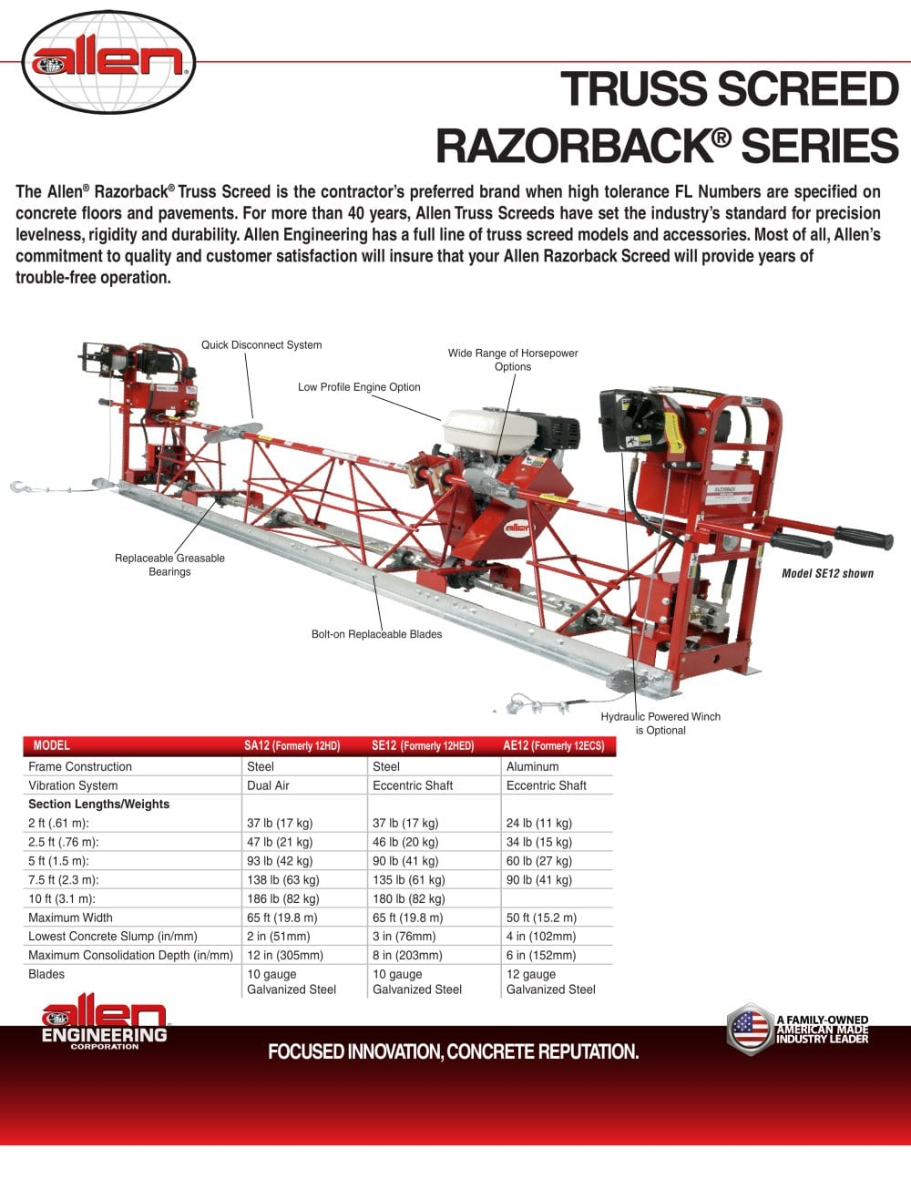 TRUSS SCREED RAZORBACK ® SERIES - Allen Engineering Corporation ...