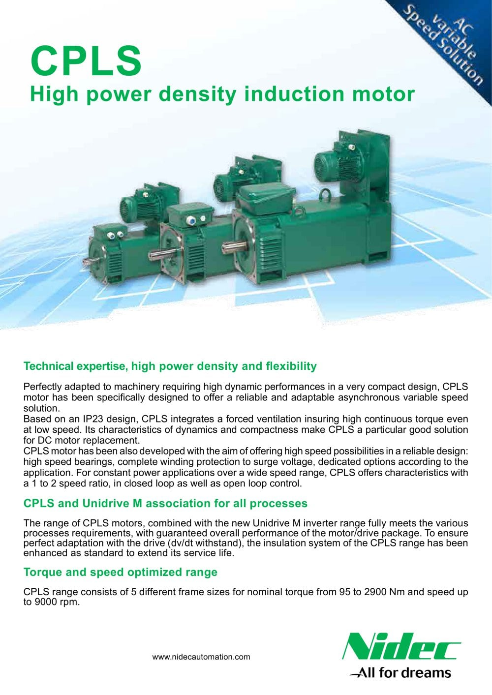 CPLS high power density induction motor - LEROY-SOMER - PDF ...