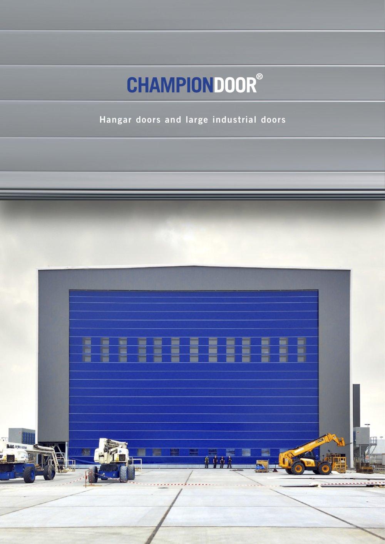 Hangar doors and Large industrial doors - 1 / 20 Pages & Hangar doors and Large industrial doors - Champion Door - PDF ...