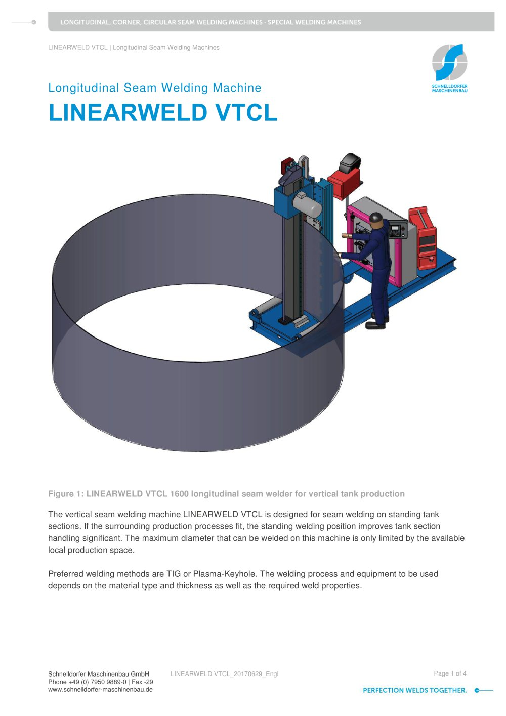 Linearweld Vtcl Schnelldorfer Maschinenbau Pdf Catalogue Gas Welding Equipment Diagram 1 4 Pages