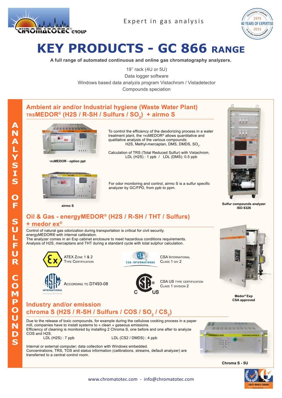 Key Products Chromatotec Pdf Catalogue Technical Documentation
