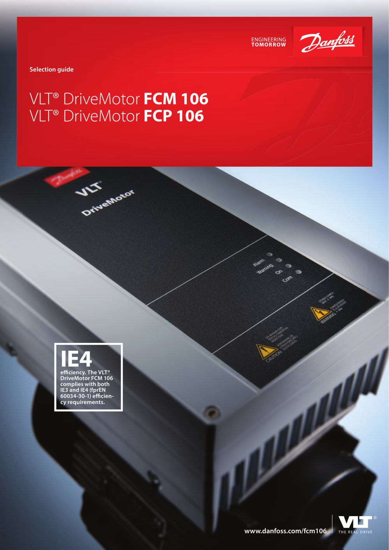 vlt® drivemotor fcm 106 fcp 106 danfoss vlt drives pdf vlt® drivemotor fcm 106 fcp 106 1 12 pages