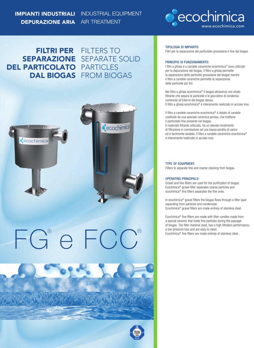FINE FILTER FOR BIOGAS FCC® - Ecochimica System - PDF Catalogue ...