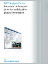 R&S®Analysis Center Automatic radio network  detection and situation  picture visualization