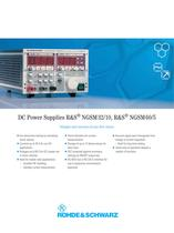 R&S®NGSM32/10, NGSM 60/5 Programmable DC Power Supply with arbitrary function
