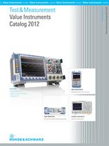 Test & Measurement Value Instruments Catalog 2012