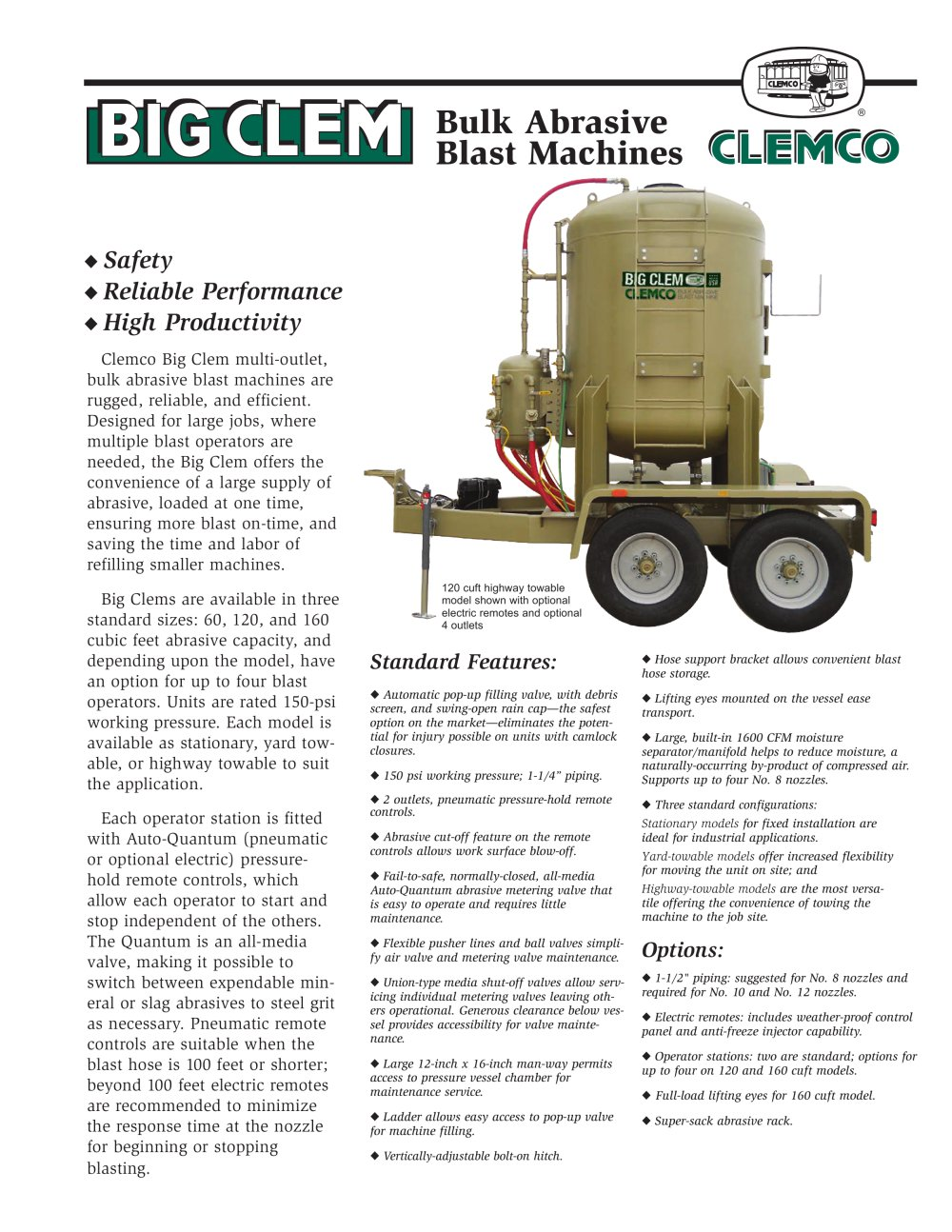 Clemco Industries Blast Cabinets