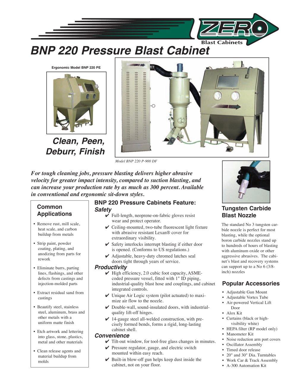 Clemco Industries Blast Cabinets Bnp 220 Pressure Blast Cabinet Rev E Clemco Industries Pdf