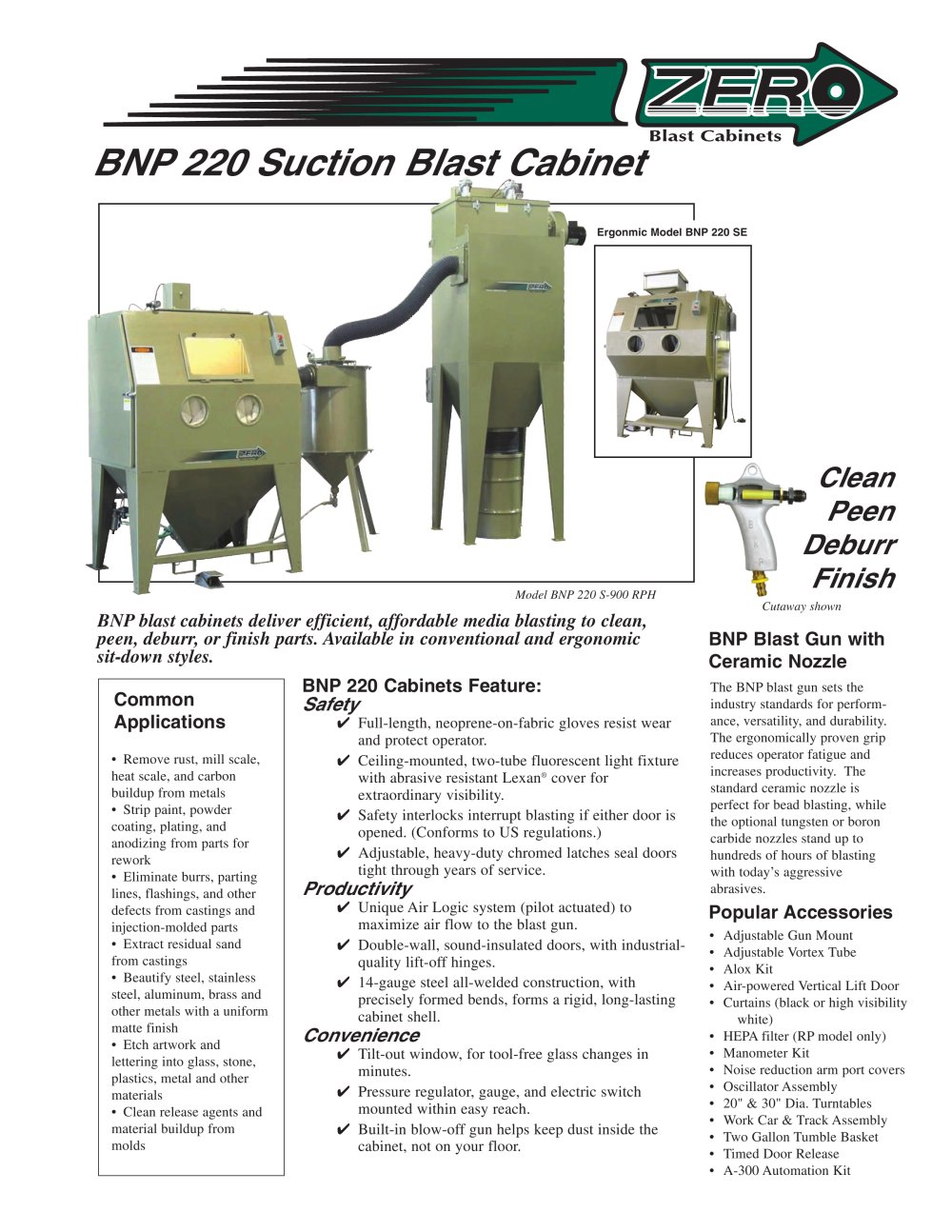 Clemco Industries Blast Cabinets Bnp 220 Suction Blast Cabinet Rev F Clemco Industries Pdf