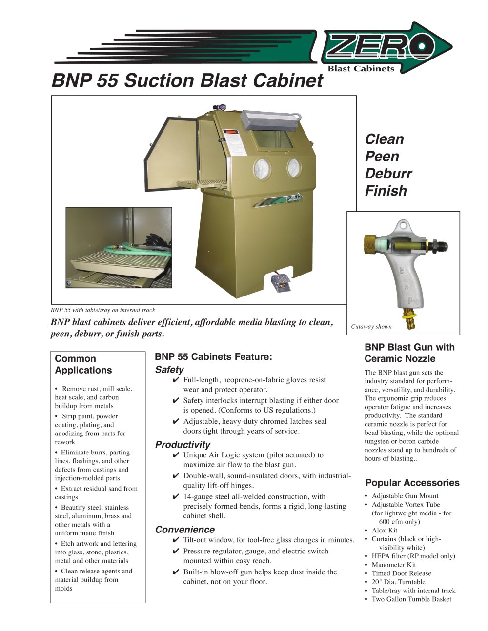 Clemco Industries Blast Cabinets Bnp 55 Suction Blast Cabinet Rev D Clemco Industries Pdf