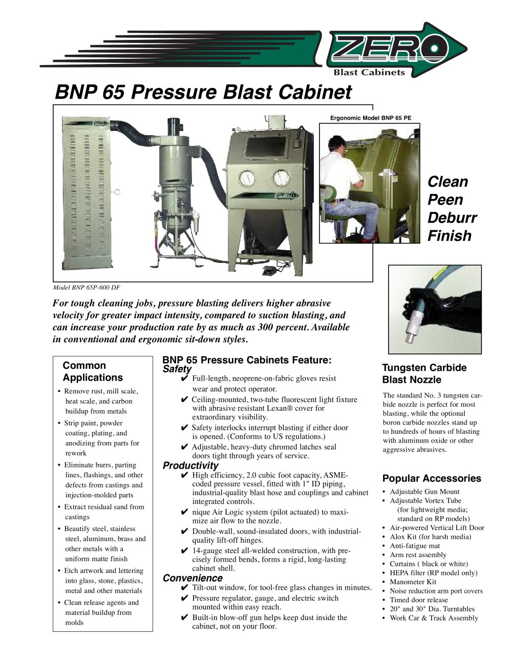 Clemco Industries Blast Cabinets Bnp 65 Pressure Blast Cabinet Rev E Clemco Industries Pdf