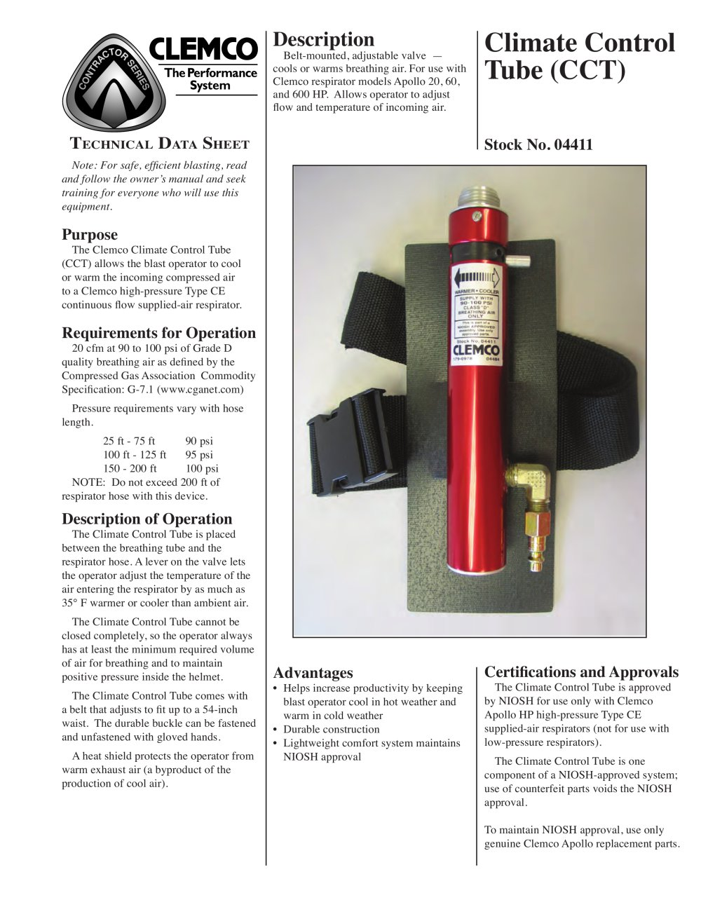 Clemco Industries Blast Cabinets Climate Control Tube Rev D Clemco Industries Pdf Catalogue