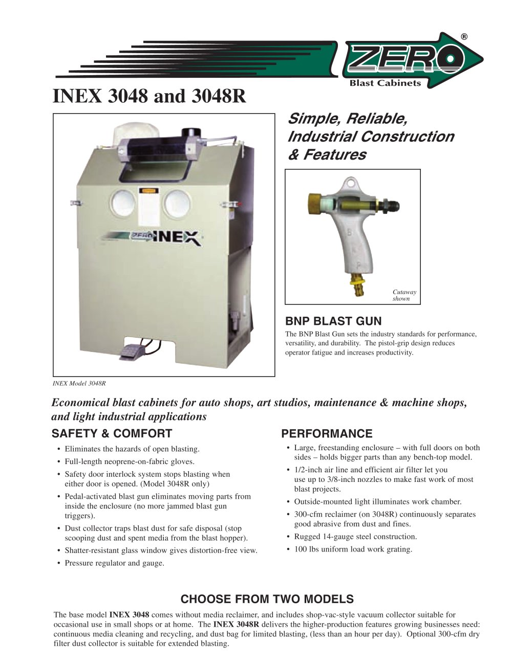 Clemco Industries Blast Cabinets Inex Blast Cabinet Rev E Clemco Industries Pdf Catalogue