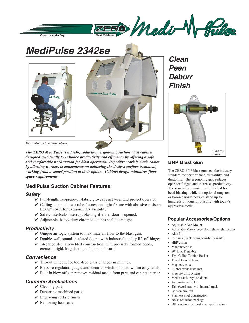 Clemco Industries Blast Cabinets Medipulse 2342se Suction Blast Cabinet Clemco Industries Pdf