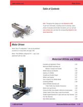 motor driven linear stages for scanning and indexing