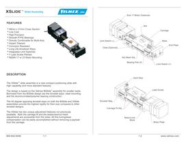 Small motor driven linear stage for indexing and scanning