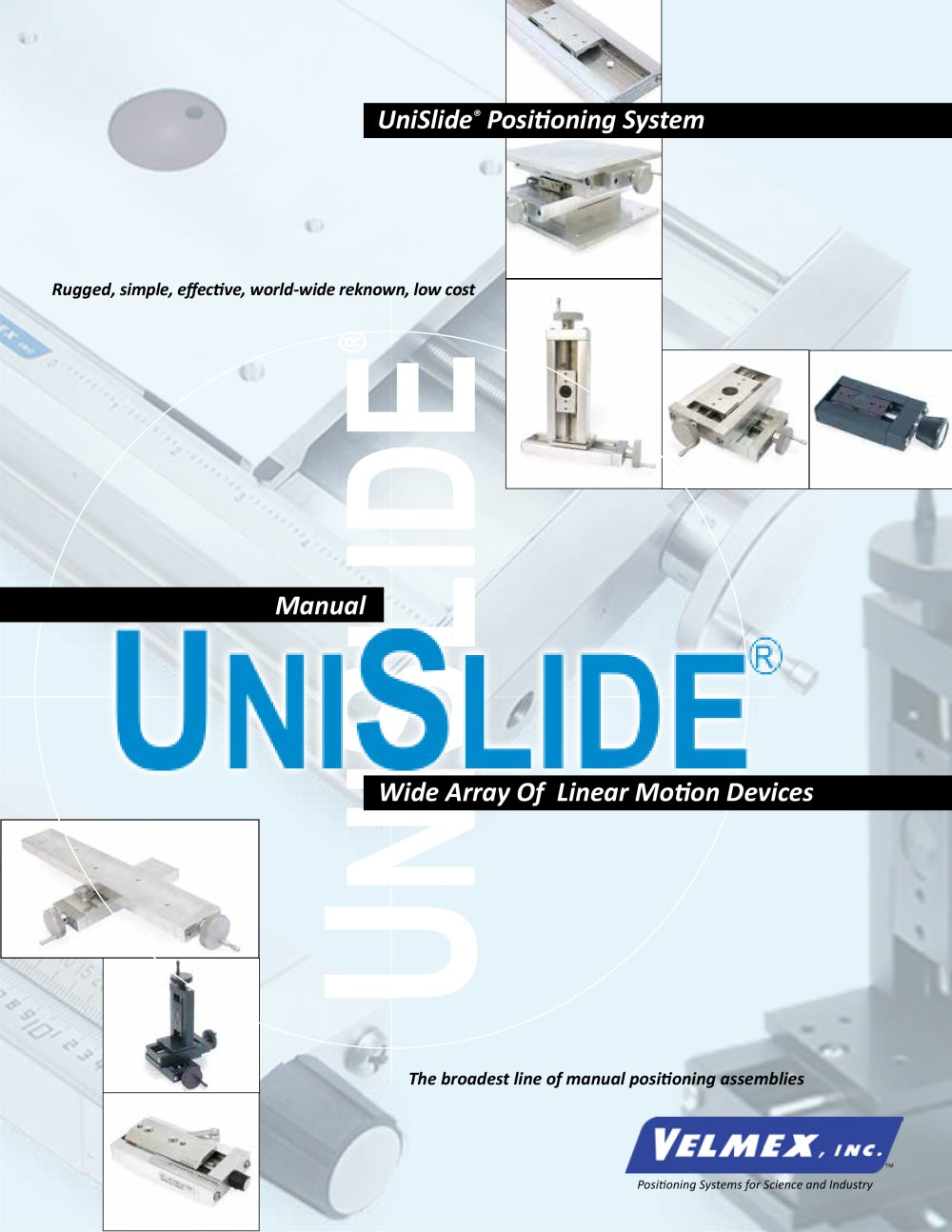 unislide velmex inc pdf catalogue technical documentation rh pdf directindustry com Besam Unislide Manual X Y Positioners