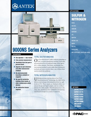 9000S - SULFUR ANALYZER HORIZONTAL