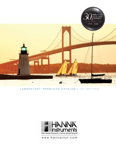 HANNA instruments 2007 Laboratory Catalog