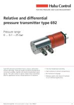 Relative and differential pressure transmitter Type 692