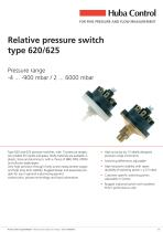 Relative pressure switch Type 620