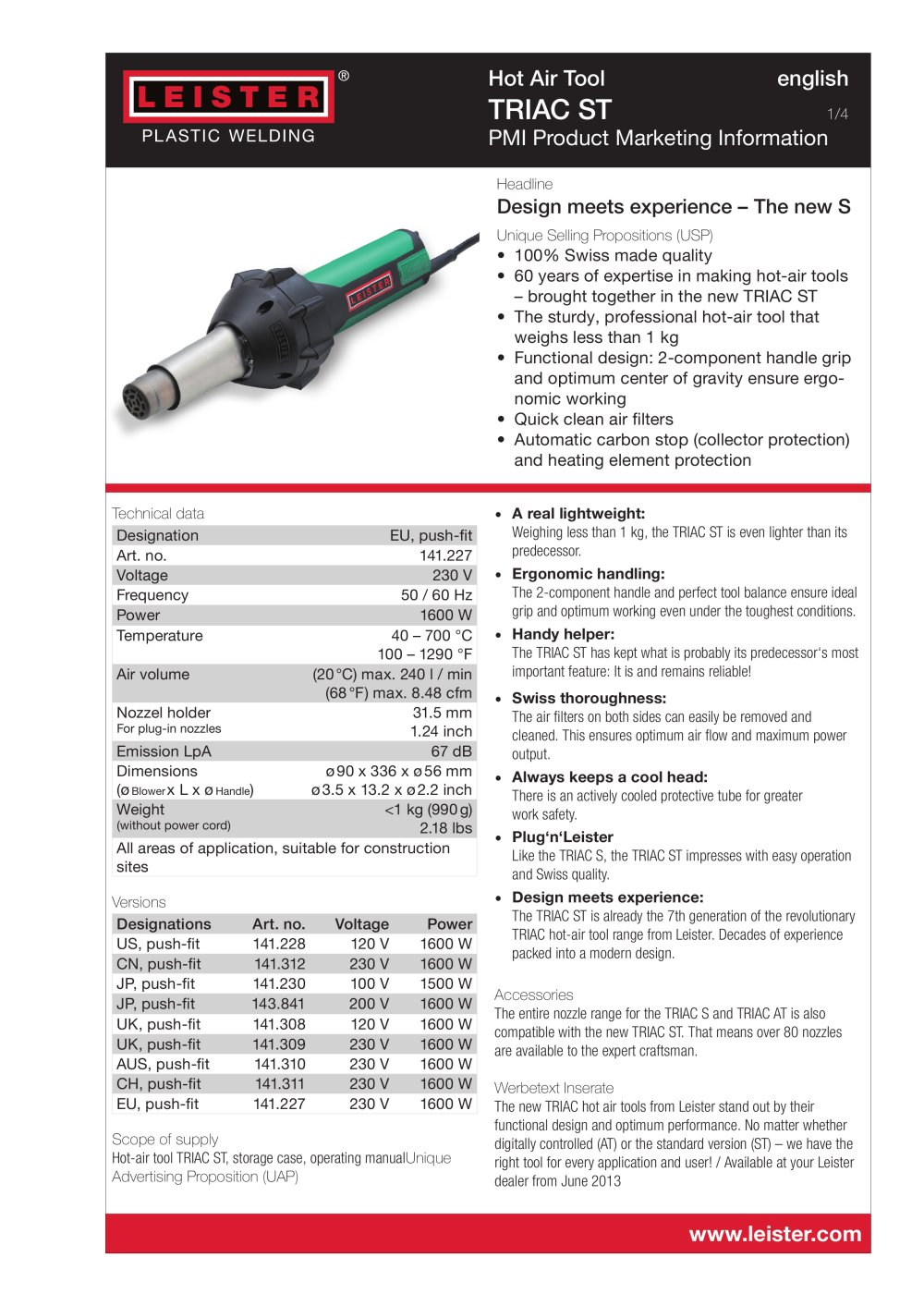 Leister Triac St Technologies Ag Pdf Catalogue Applications 1 4 Pages