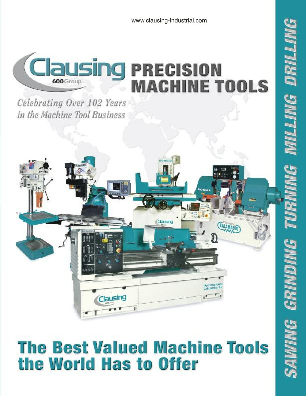 Clausing Full Line Conventional Catalog (138 Pgs) - 1 / 137 Pages