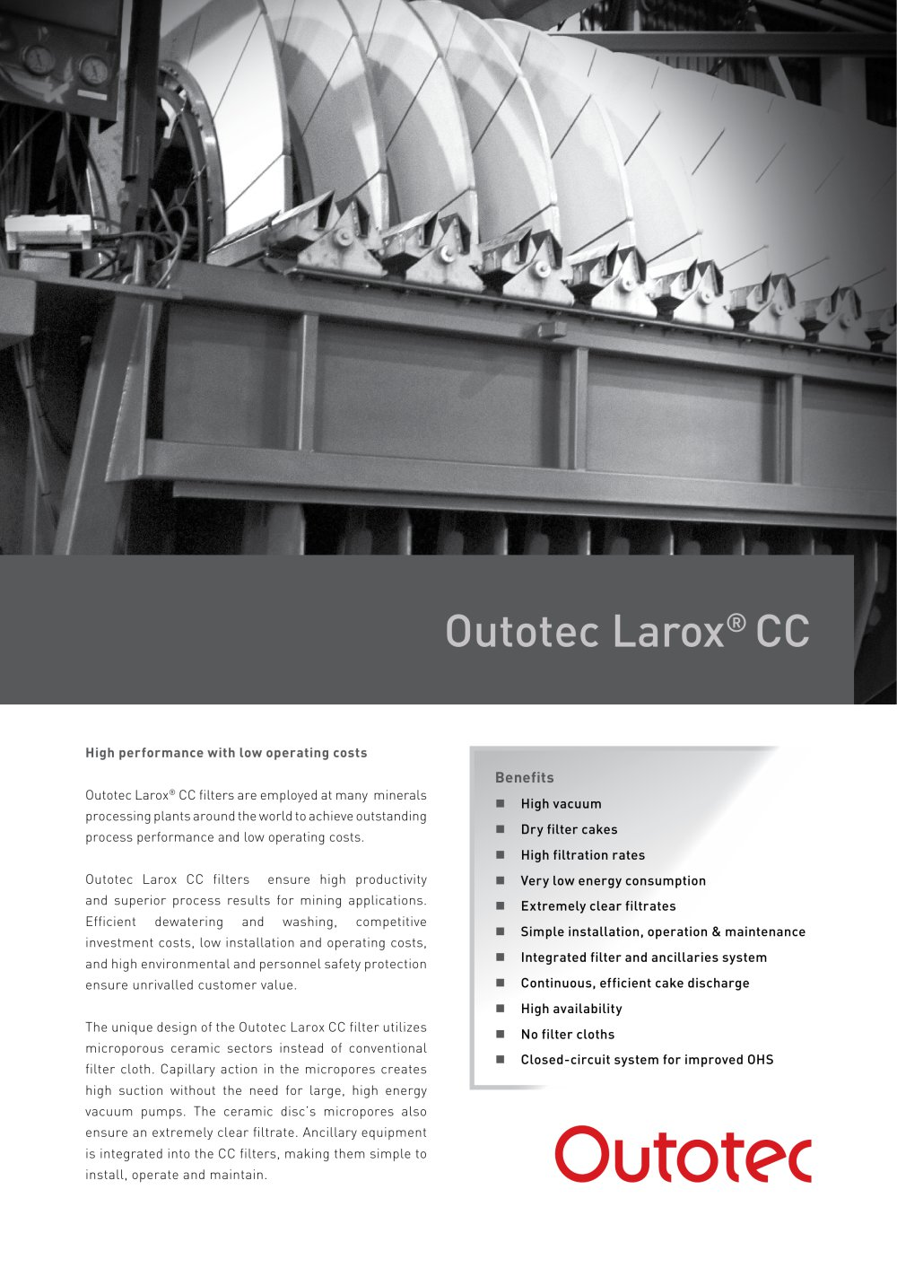 Outotec Larox Cc Pdf Catalogs Technical Schematic Diagram Was Created For Installing The Vacuum Pump 1 4 Pages
