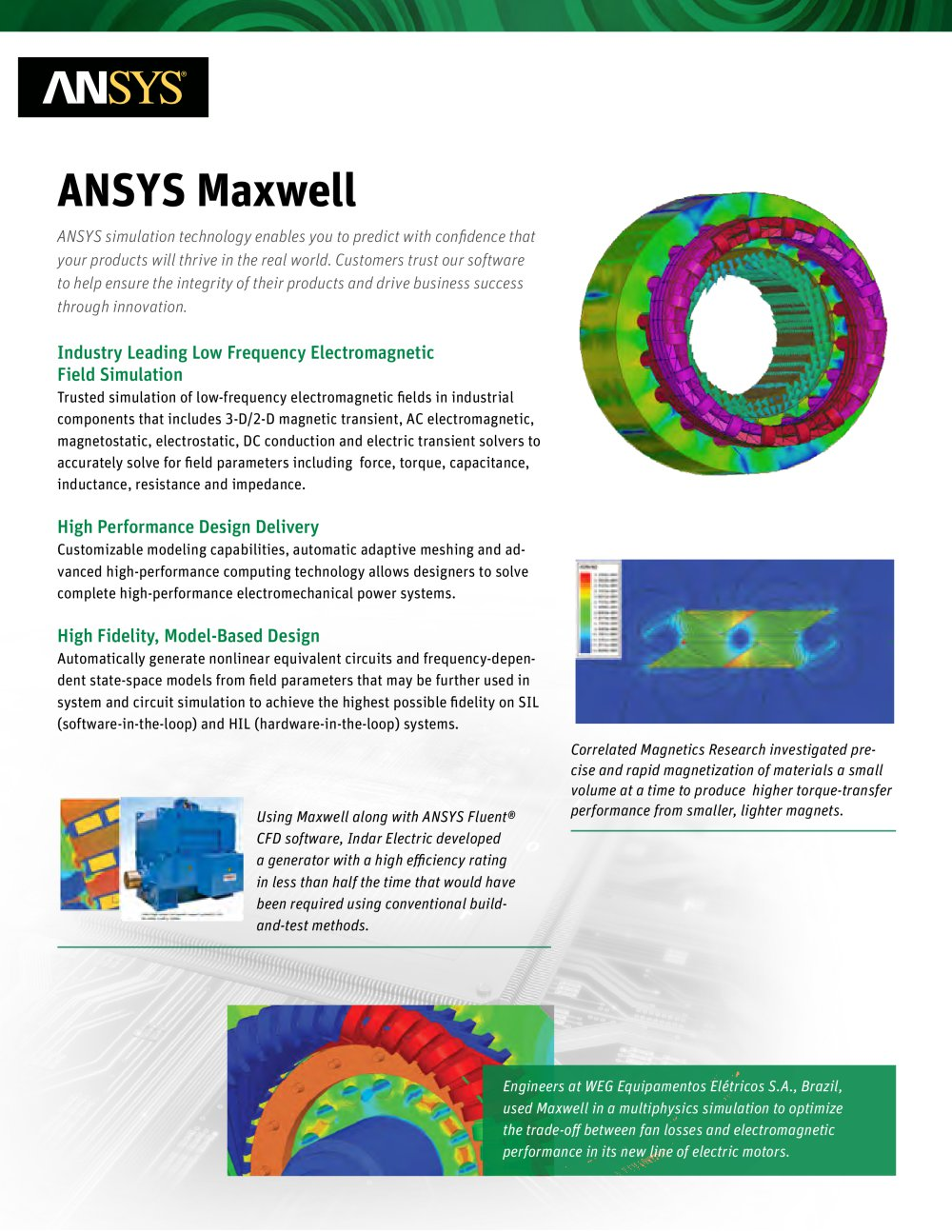 Ansys Maxwell Pdf Catalogs Technical Documentation Circuit Simulator Electronic Software Electrical 1 2 Pages