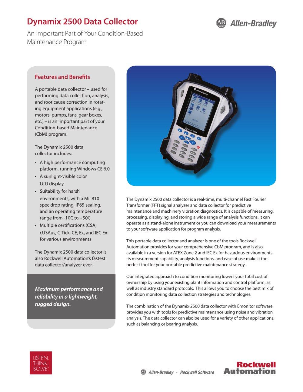 Dynamix 2500 Data Collector - Allen-Bradley - PDF Catalogue ...