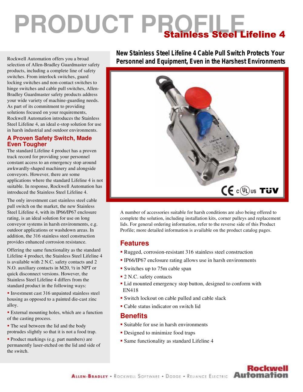 max. 75 m | Lifeline 4 - Allen-Bradley - PDF Catalogue | Technical ...
