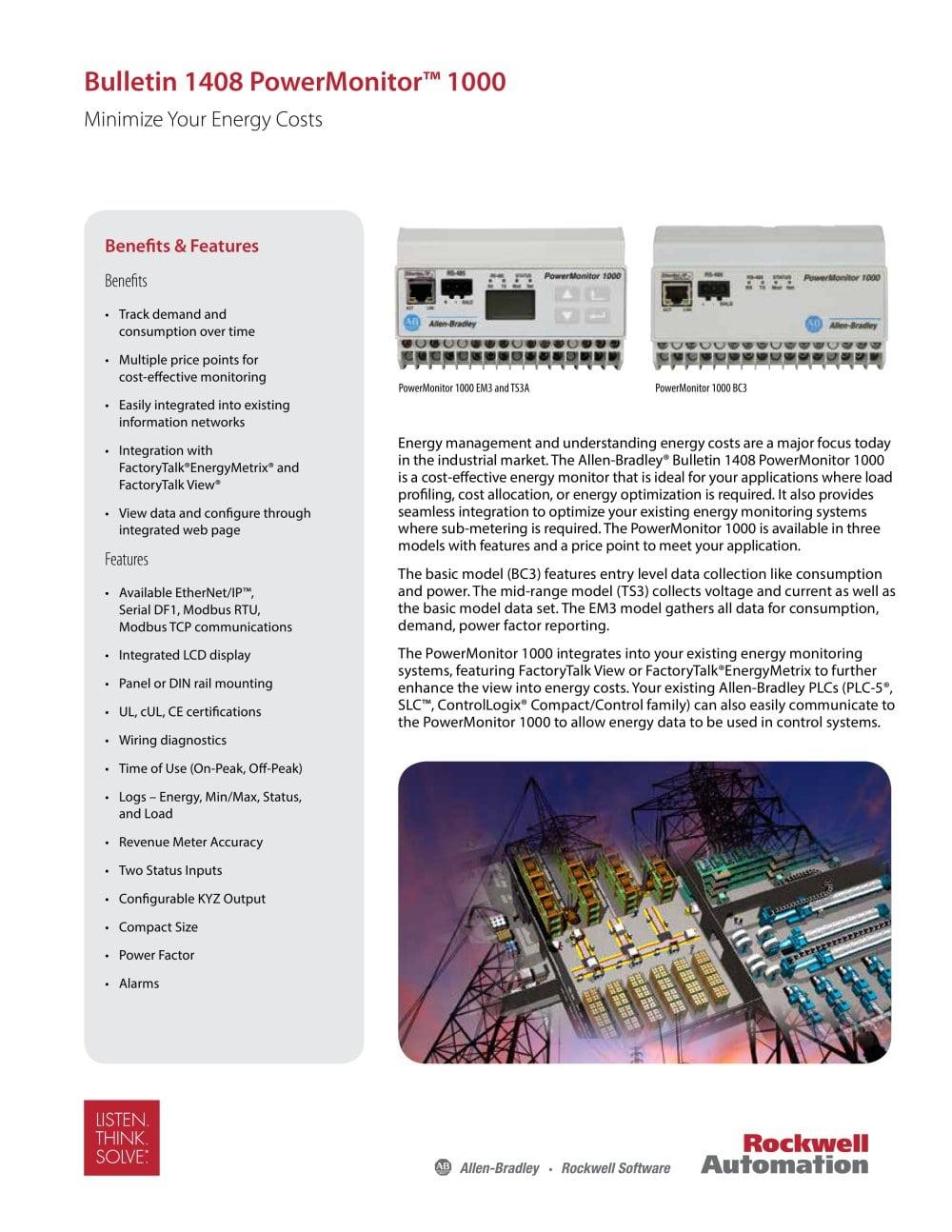 PowerMonitor™ 1000 - Allen-Bradley - PDF Catalogue | Technical ...
