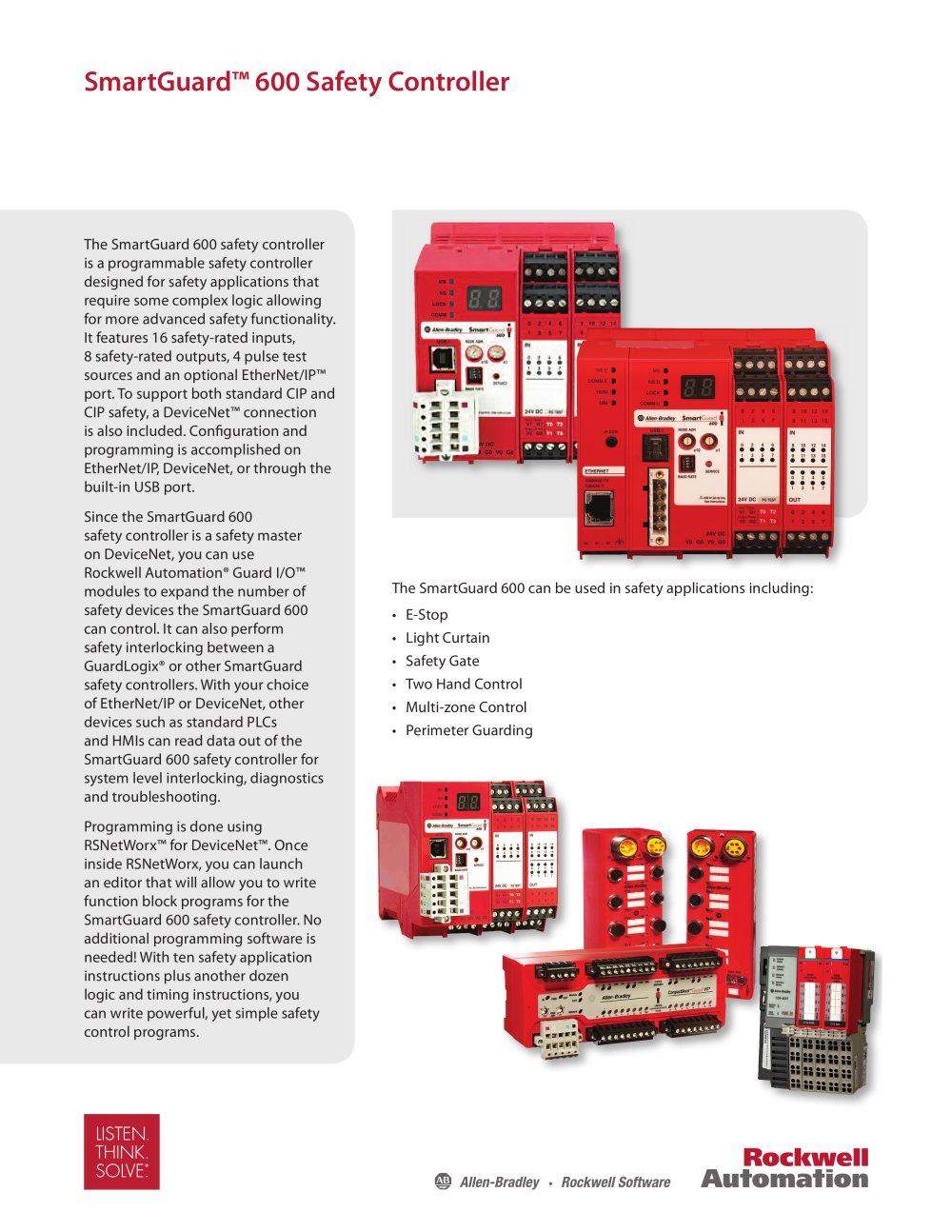 SmartGuard? 600 Safety Controller - Allen-Bradley - PDF Catalogue ...