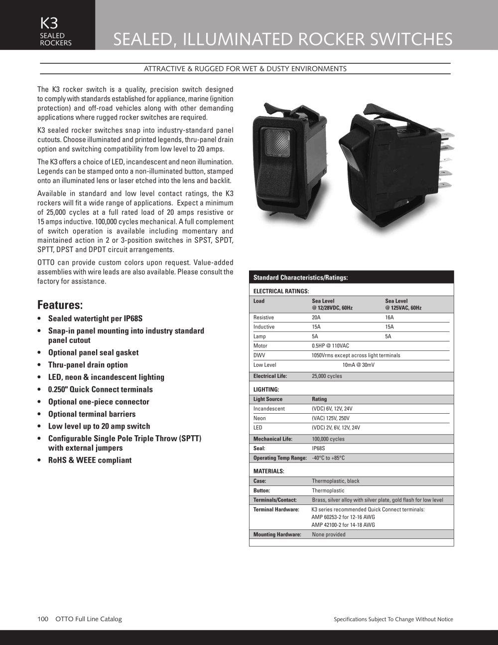 K3 Sealed Illuminated With Legends - OTTO - PDF Catalogue ...