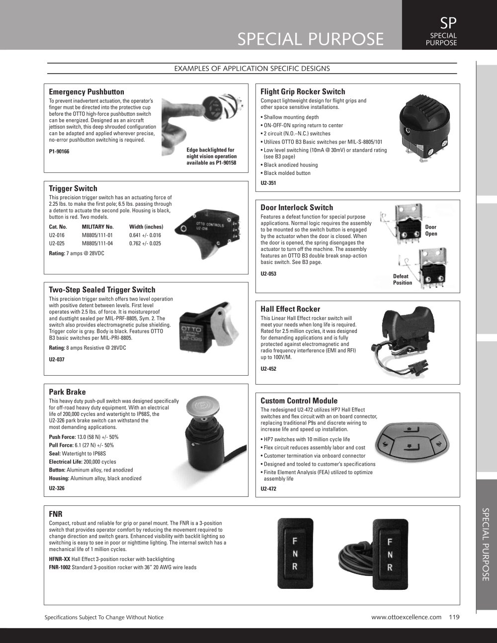 Special Purpose Switches Otto Pdf Catalogs Technical Carling Switch Wiring Connector Air On Board 1 Pages