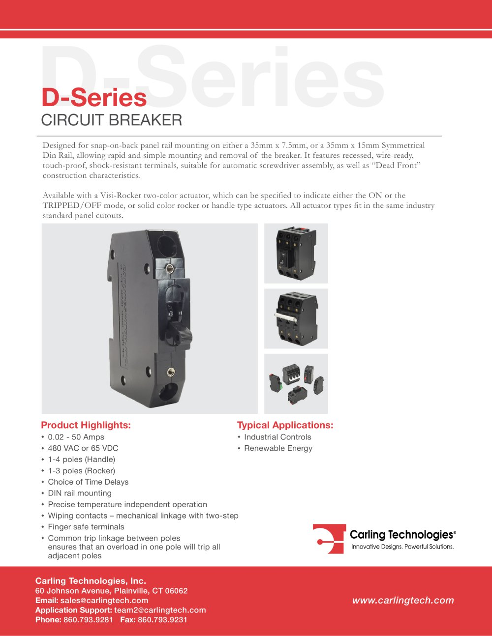D Series Circuit Breaker Carling Technologies Pdf Catalogue Trippingcircuitbreakerpaneljpg 1 10 Pages