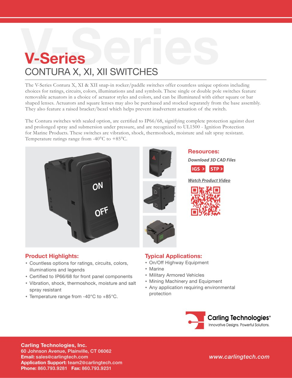 v series contura x xi xii carling technologies pdf catalogsv series contura x xi xii 1 14 pages
