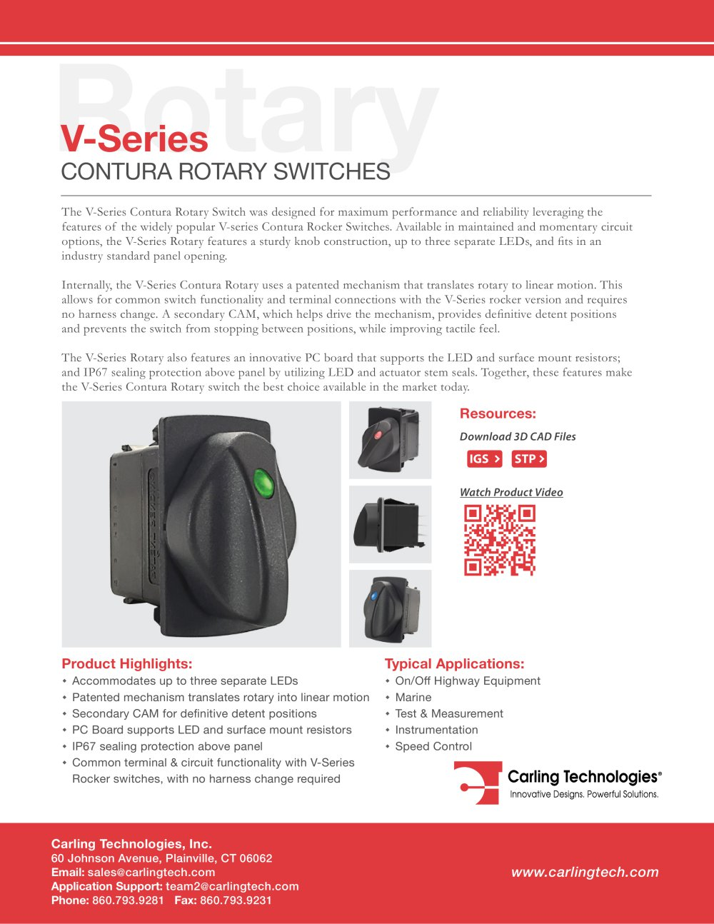 V Series Rotary Carling Technologies Pdf Catalogue Technical Uses Of Circuit 1 10 Pages