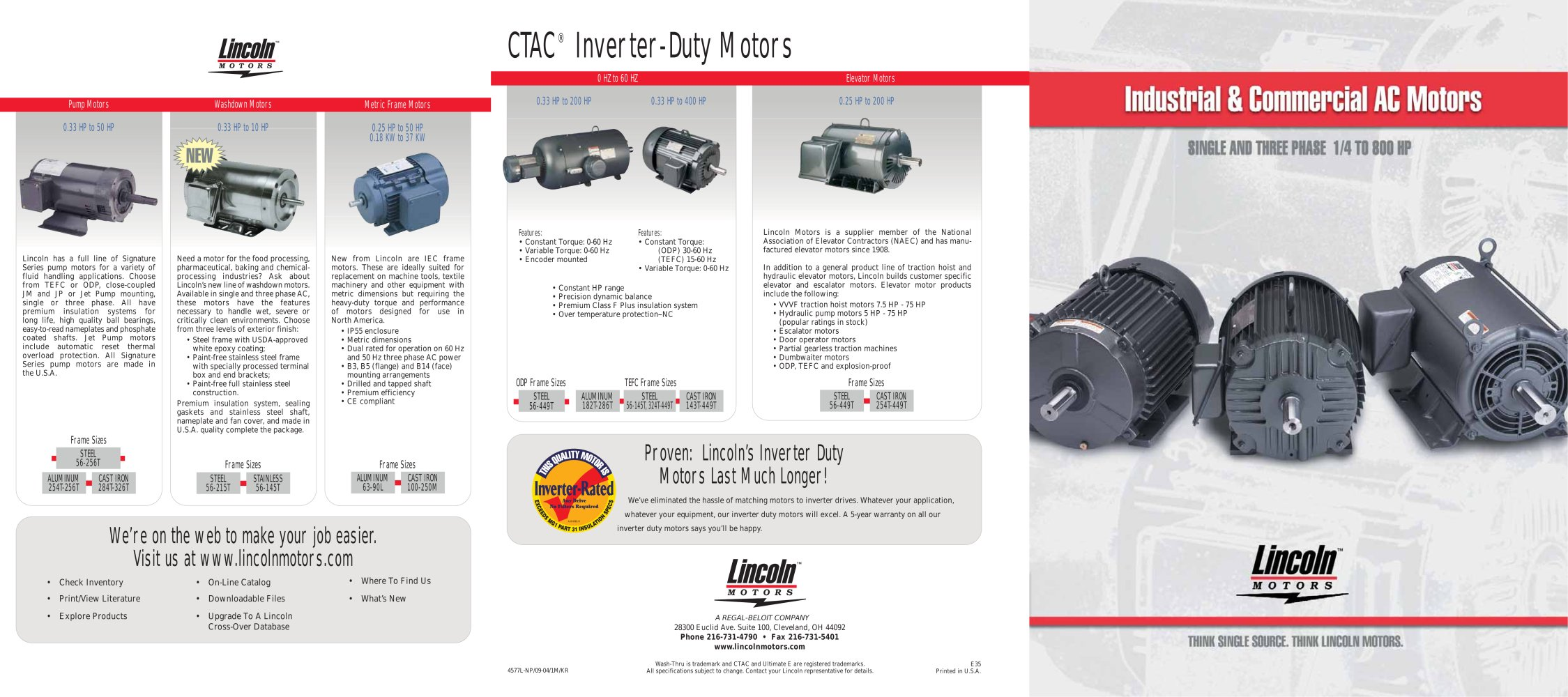 Lincoln Industrial & Commercial AC Motors - LEESON Electric - PDF ...