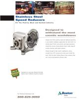 Stainless Steel Speed Reducers