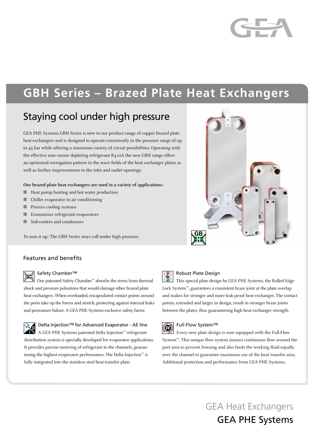 GBH Series - Brazed Plate Heat Exchangers - 2 Pages