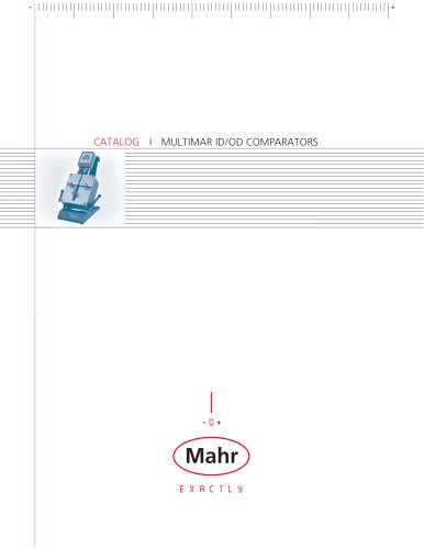 Multimar ID/OD Comparators - MAHR - PDF Catalogs | Technical
