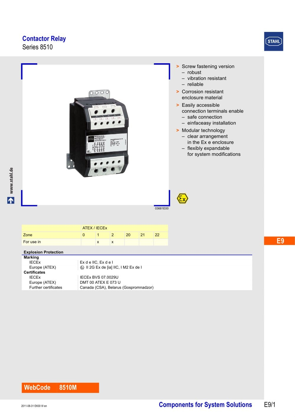 Contactor relay series 8510 r stahl pdf catalogue technical contactor relay series 8510 1 5 pages asfbconference2016 Images