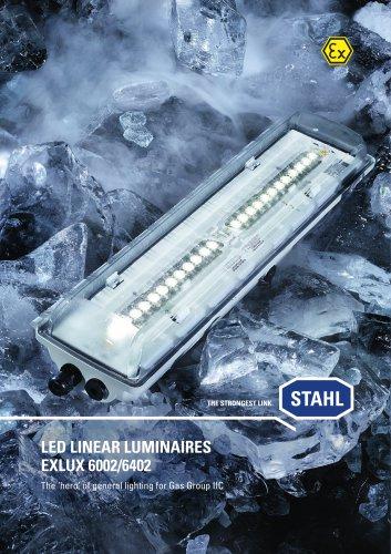 LED linear luminaires EXLUX 6002/6402