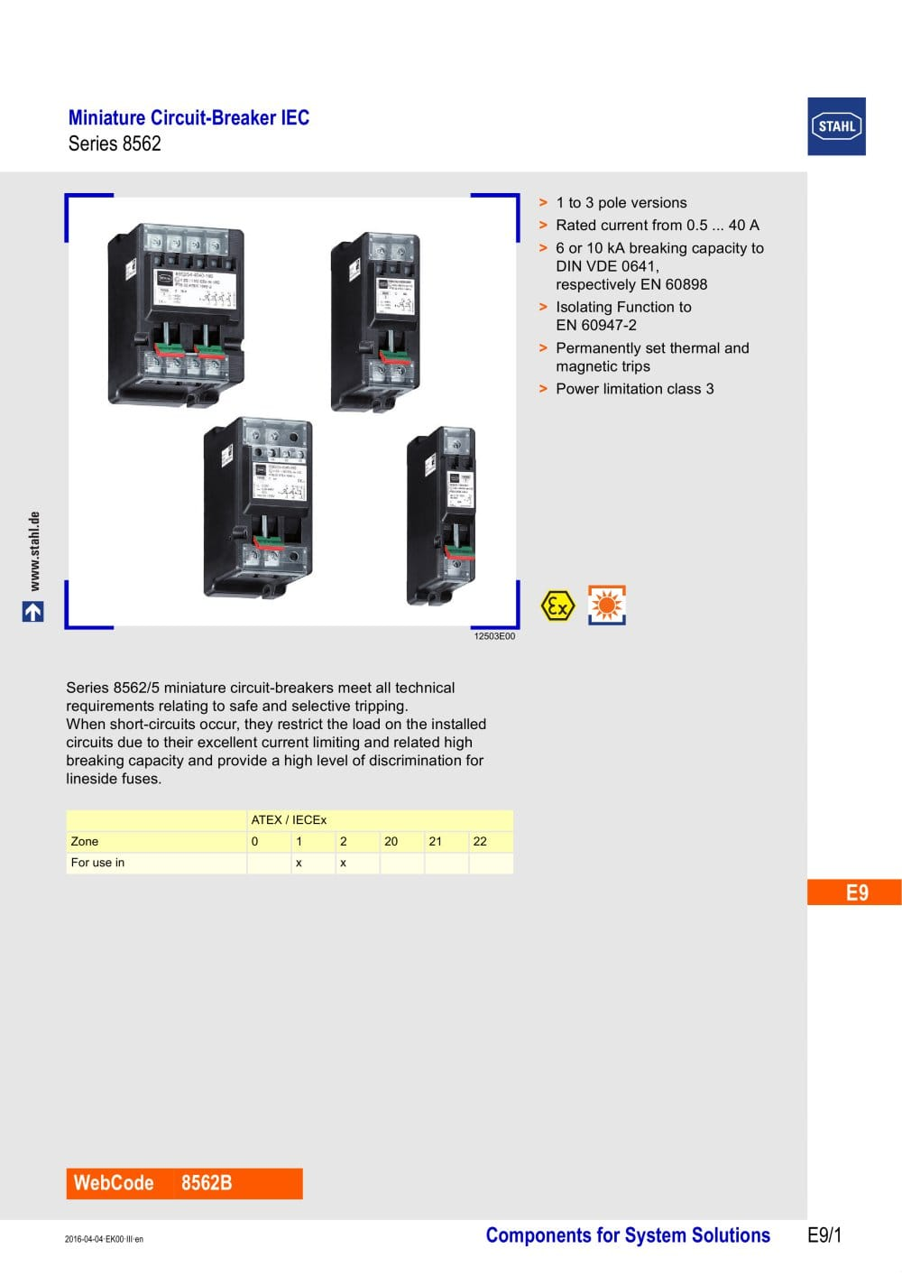 Miniature Circuit Breaker Iec Ls Series 8562 R Stahl Pdf Mcb Is A Device Designed To Protect Circuit39s 1 18 Pages