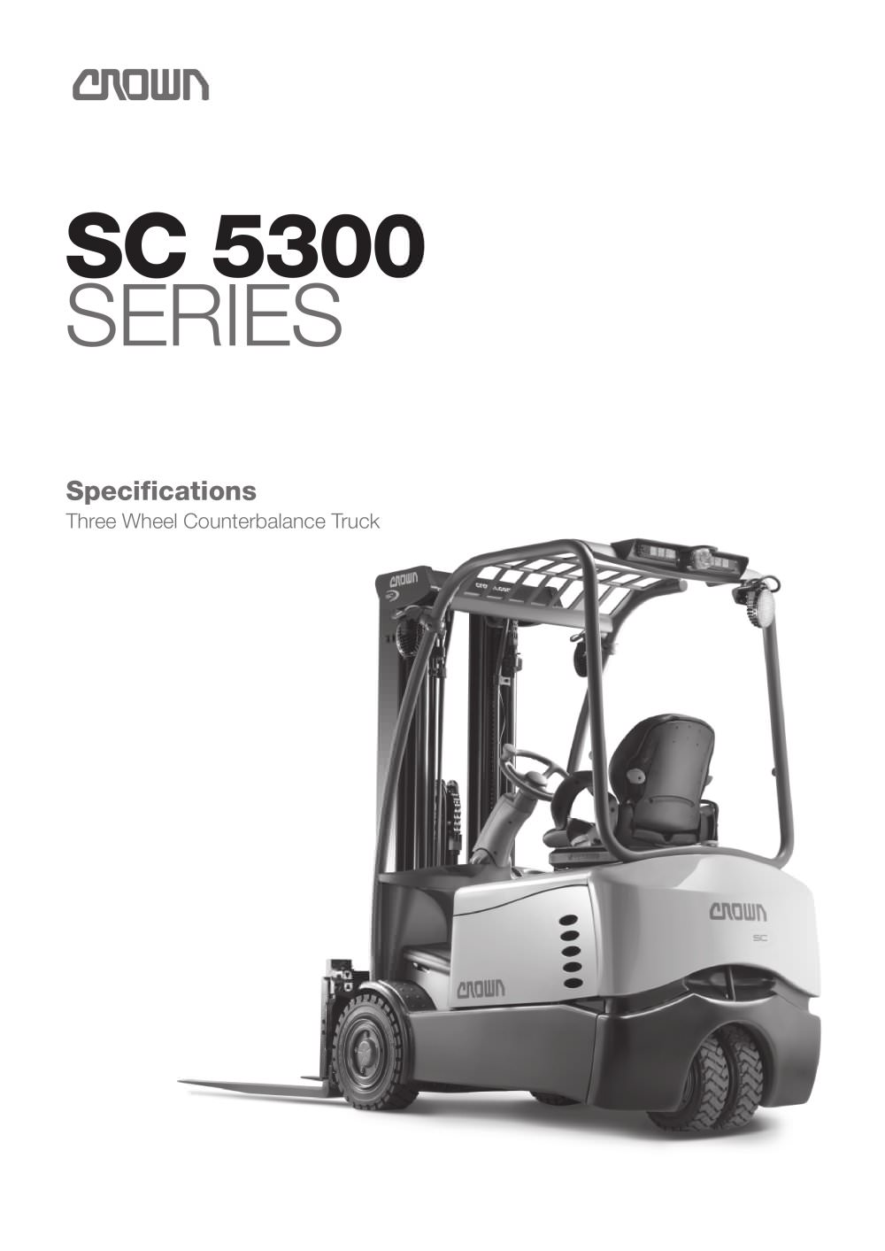 Electric Forklift 3-Wheel, SC 5300 - 1 / 6 Pages
